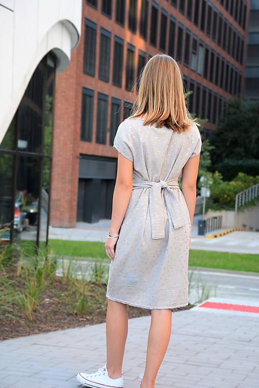 Mušelínové šaty/tunika Mirra Grey s opaskom