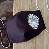 Rúška - Hnedé rúško so šerifskou hviezdou - 12368946_