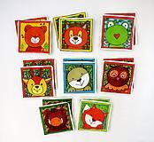 Hračky - Textilné pexeso  (Zvieratká na výber po páre kartičiek) - 12367240_