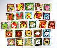 Hračky - Textilné pexeso  (Zvieratká na výber po páre kartičiek) - 12367243_