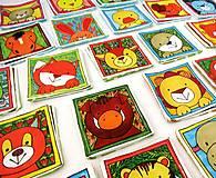 Hračky - Textilné pexeso  (Zvieratká na výber po páre kartičiek) - 12367244_
