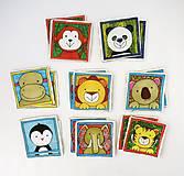 Hračky - Textilné pexeso  (Zvieratká na výber po páre kartičiek) - 12367250_