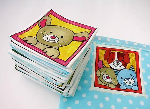Textilné pexeso  (Zvieratká na výber po páre kartičiek)
