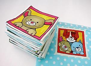 Hračky - Textilné pexeso  (Zvieratká na výber po páre kartičiek) - 12367249_