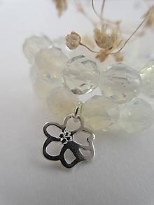 Náramky - Opalitový s kvetom - 12367191_