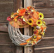 Dekorácie - Jesenný venček - 12370435_