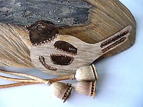 Odznaky/Brošne - vtáčik jesenný-brošňa(v hnedej) - 12368695_