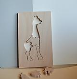 Hračky - Drevené puzzle - Žirafa - 12368941_