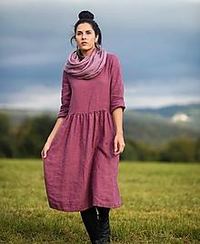 Šaty - lněné šaty LaRose - 12369785_
