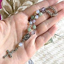 Náramky - Smooth Colors Rosary Bracelet / Ruženec do auta alebo náramok - 12371408_