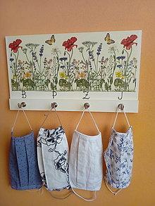 Nábytok - Vešiak - Lúčne kvety - 12373048_
