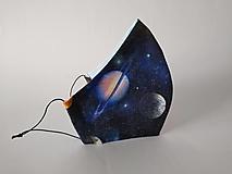 Rúška - Dizajnové rúško vesmír tvarované dvojvrstvové (Dámske antibakteriálne vnútro) - 12370605_