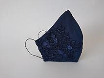 Rúška - Dizajnové rúško spoločenské čipkované tvarované trojvrstvové (Dámske) - 12374495_