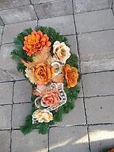 zakrivená slza na hrob v jesenných farbách 55 cm ZĽAVA