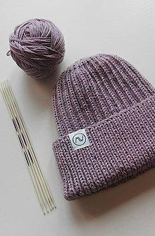 Detské čiapky - Detská čiapka  (fialová vintage) - 12373928_