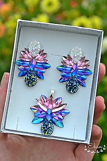 Sady šperkov - Náušnice s príveskom - 12370574_