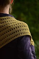 Rukavice - Dámska šatka a rukavice LISA - ZĽAVNENÉ (aj jednotlivo), žlté kaki, 100% merino - 12371621_