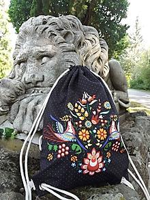 Batohy - Vak na chrbát s ornamentom zo Slovenska - 12374325_
