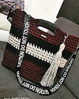 Veľké tašky - Háčkovaná taška - 12370476_