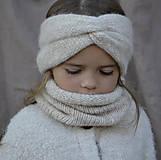 Detské čiapky - Baby turbančelenka...natur - 12370465_