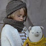 Detské čiapky - Baby turbančelenka...hnedá - 12370470_