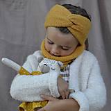 Detské čiapky - Baby turbančelenka...zlatá - 12370475_