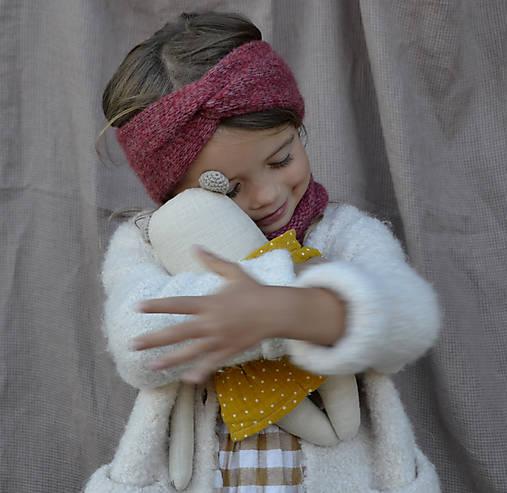Detské čiapky - Baby turbančelenka...tehlová - 12370463_