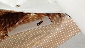 Kabelky - Vyšívaná taška Lístky - 12372907_