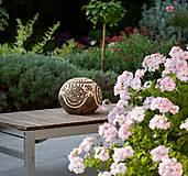 Svietidlá a sviečky - záhradná guľa - svietnik - 12373301_