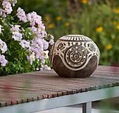 Svietidlá a sviečky - záhradná guľa - svietnik - 12373303_