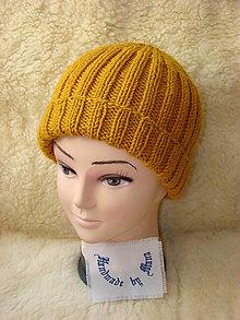 Čiapky - Ručne pletená čiapka - 12377154_