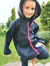 """Detské oblečenie - Dievčenský softshellový kabátik """"pierko"""" - 12377451_"""