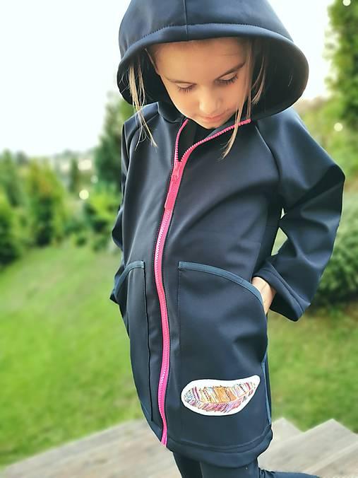 """Dievčenský softshellový kabátik """"pierko"""""""