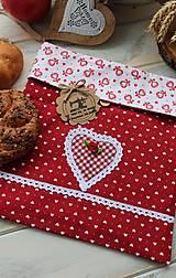 Úžitkový textil - Vrecúško na desiatu-srdiečko - 12377743_