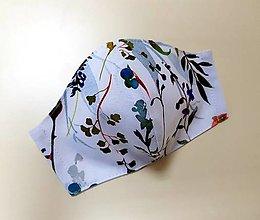 Rúška - Dizajnové bavlnené rúško (Akvarelove rastlinky) - 12377886_