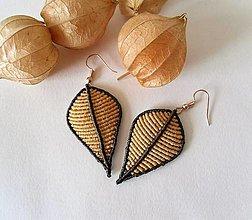 Náušnice - Jesenná kolekcia, macramé náušnice - 12376159_