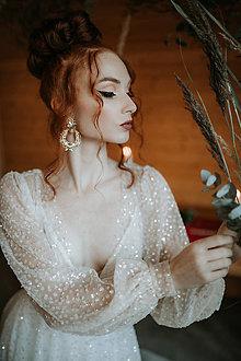 Náušnice - Crystal so zlatou - 12377975_
