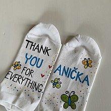 Obuv - Maľované ponožky ako poďakovanie (s - 12376831_