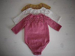 Detské oblečenie - Romper v malinovej farbe 100% Baby merino - 12374967_
