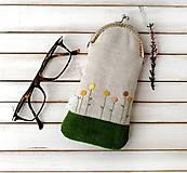 Taštičky - Púzdro na okuliare Kvietky žlté - 12375233_