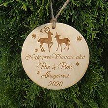 Dekorácie - Vianočná guľa - Naše prvé Vianoce - 12376987_