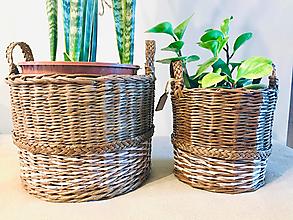 """Košíky - Set Pletené Obaly na rastliny """"Gardenia"""" - 12377163_"""