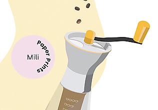 Grafika - Coffee print, minimalistický poster_mlynček - 12375826_