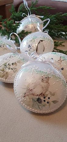 Dekorácie - Vianočná ozdoba- zvieratka v bielom - 12375349_