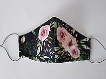 Rúška - VÝPREDAJ dámske dizajnové rúško prémiová bavlna antibakteriálne s časticami striebra dvojvrstvové tvarované - 12380253_