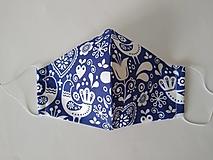 Rúška - VÝPREDAJ dámske dizajnové rúško prémiová bavlna antibakteriálne s časticami striebra dvojvrstvové tvarované - 12380285_