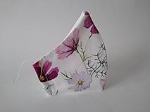 Dizajnové rúško letné kvety prémiové antibakteriálne tvarované dvojvrstvové