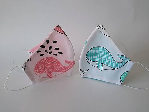 Pár dizajnových rúšok veľryba tvarované dvojvrstvové