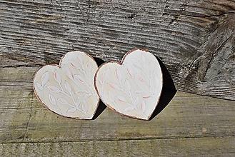 Úžitkový textil - šipec srdce patinované - 12379963_