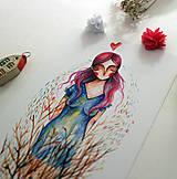Grafika - Prijmem tvoje ruže/ print - 12381675_